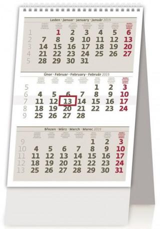 MINI tříměsíční kalendář - stolní kalendář 2019