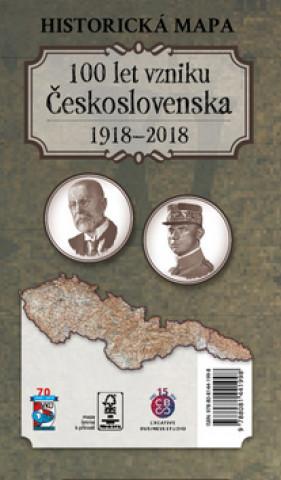 Historická mapa 100 let vzniku Československa 1918 – 2018