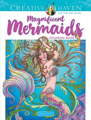 Creative Haven Magnificent Mermaids Coloring Book