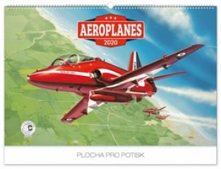 Nástěnný kalendář Aeroplanes 2020