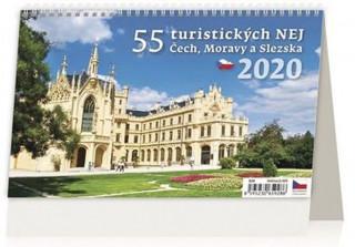55 turistických nej Čech, Moravy a Slezska - stolní kalendář 2020