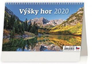 Výšky hor - stolní kalendář 2020