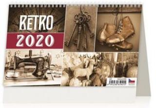 Retro - stolní kalendář 2020