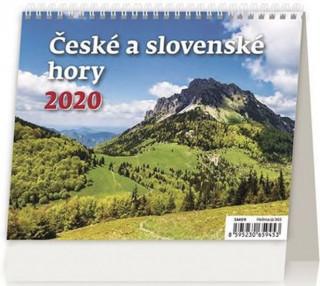 Minimax České a slovenské hory - stolní kalendář 2020