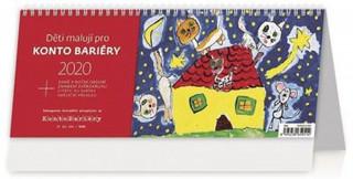 Děti malují pro Konto Bariéry - stolní kalendář 2020