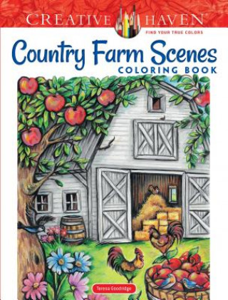 Creative Haven Country Farm Scenes Coloring Book