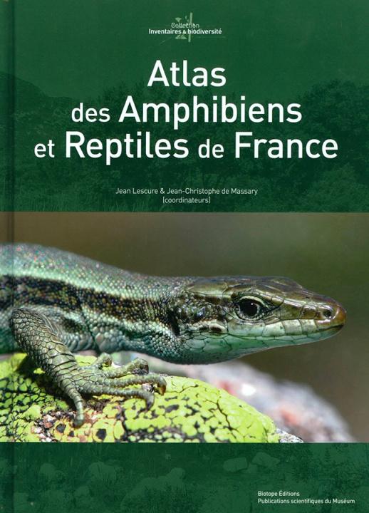 Carte Atlas des Amphibiens et Reptiles de France Jean