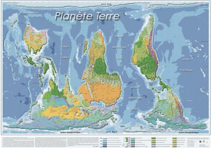 Materiale tipărite Planisphères renversantes (lot de 5 pour revente à l'unité) ONESTA